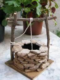 Cómo hacer un pozo para el belén de madera