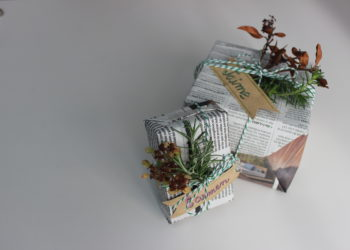 envolver regalos usando elementos naturales