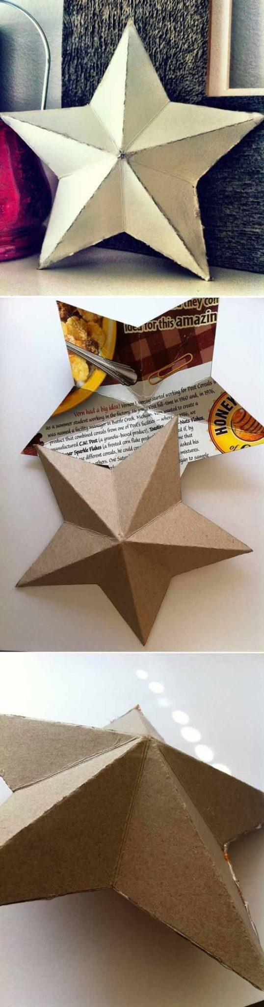 estrella de navidad con cartulina para el arbol