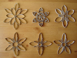 Flores de papel higienico