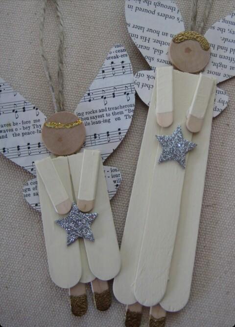 Figuras del arbol de navidad de angelitos