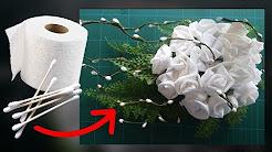 Flores de papel de WC para bodas