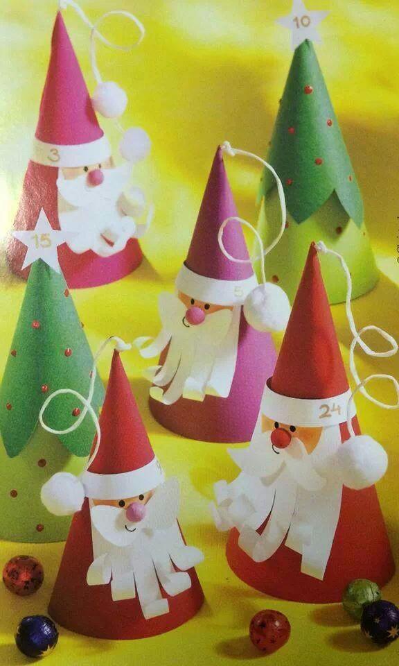 Gorros de navidad en cartulina originales