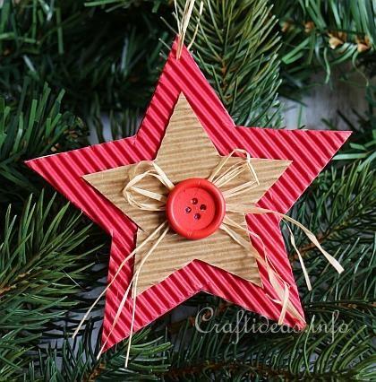 Manualidades de cartulina corrugada navideñas