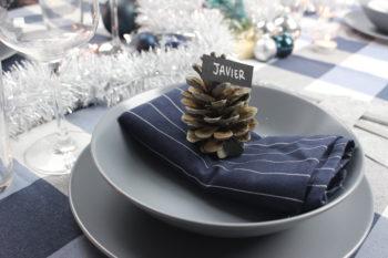 meseros de navidad con material reciclado