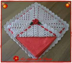 servilletero de crochet de navidad