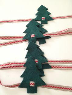 servilleteros de fieltro de arboles navideños