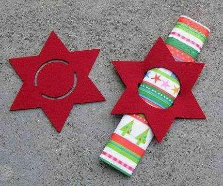 servilleteros de fieltro de navidad