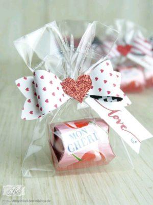 Bolsitas de dulces para San Valentín de Pinterest.