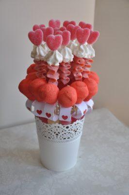 Brochetas románticas y dulces