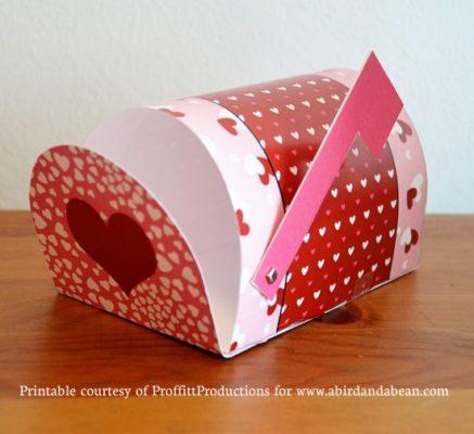 Buzón de papel de San Valentín de abirdandabean