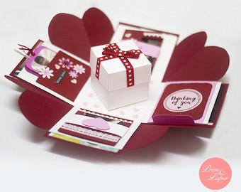 cajas explosivas para el dia de los enamorados