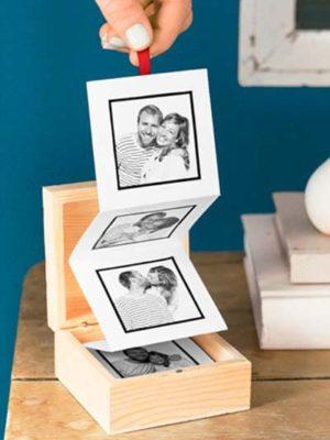 Cajita con fotos para San Valentín