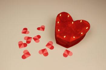 como hacer un corazón luminoso