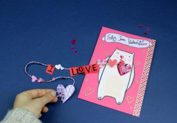 como hacer una postal de San Valentin