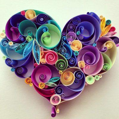 Corazón de filigrana para San Valentín de www.deshilachado.com