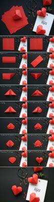 Corazón de origami con volumen de jesus-sauvage.com