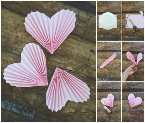 Corazones con textura de the perfect diy