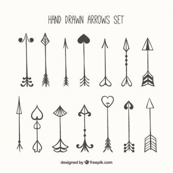 dibujar flechas san valentin