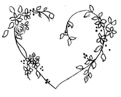 dibujo de corazones de san valentin