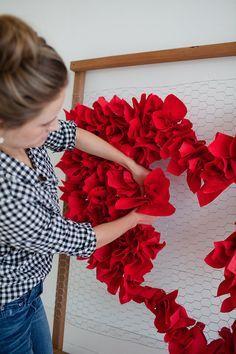 flores de papel de san valentin