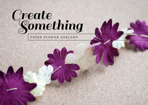 flores de papel de seda para guirnaldas