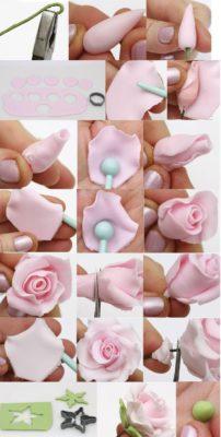 flores de plastilina para decorar