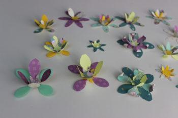 flores en papel 3d