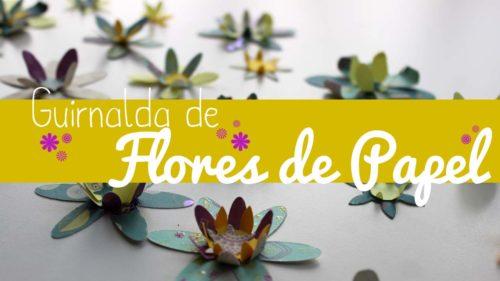 Garlanda de flors de paper