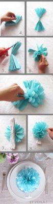 guirnalda de flores de papel crepe