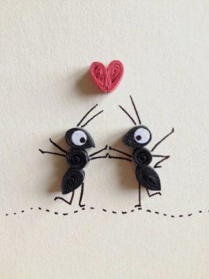Hormigas de filigrana para San Valentín de www.etsy.com