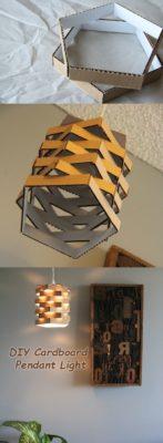 lamparas originales con carton