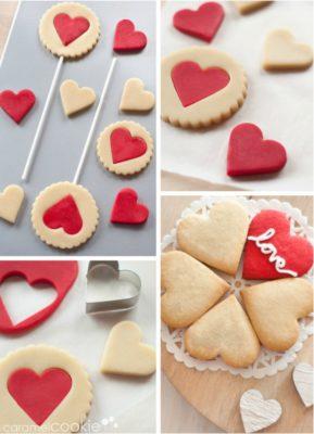 Piruletas galleta para San Valentín de caramelcookie.es