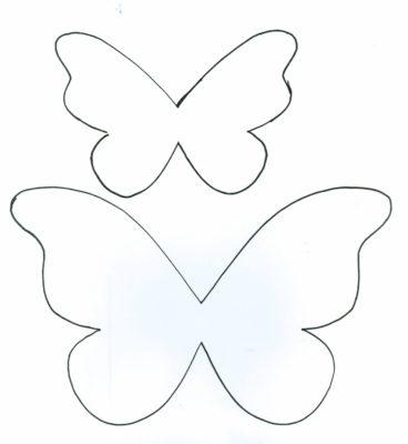 plantilla de mariposa de papel