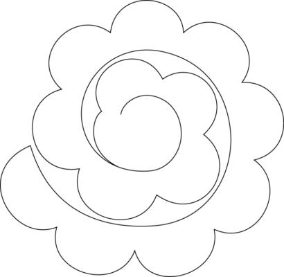 plantilla de rosas para guirnaldas