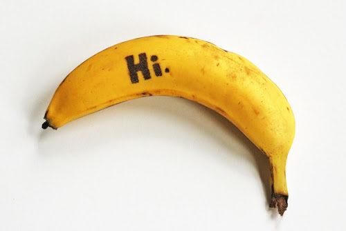 Plátanos con mensajes