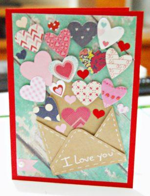 Postal de Scrap para San Valentín de www.infinityscrap.blogspot.com.es