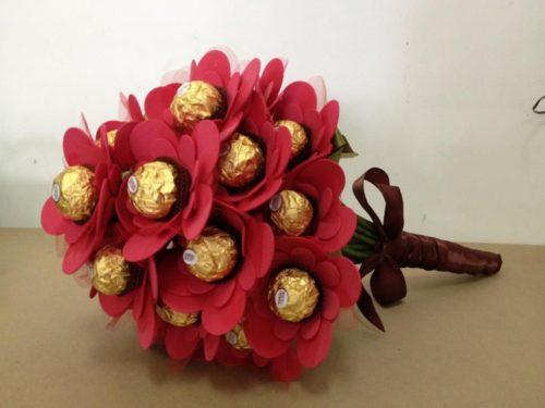 Ramo de bombones para San Valentín