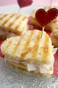 Sandwich de San Valentin de solorecetas.com