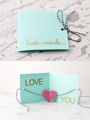 Tarjeta bonita para San Valentín