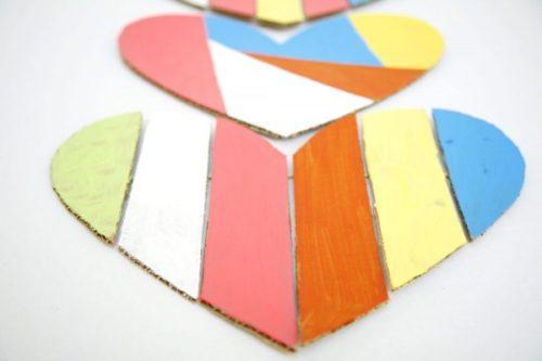tarjeta de san valentin con cartón