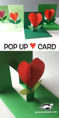 Tarjeta Pop up para San Valentín