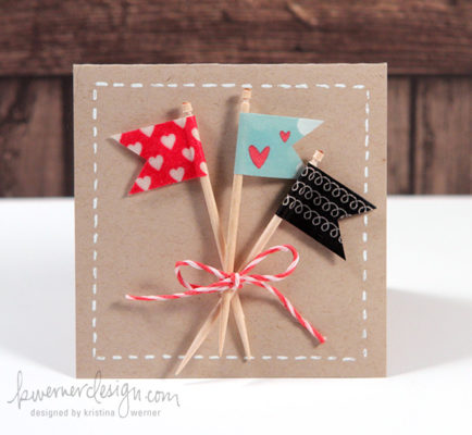 tarjetas de san valentin con washi tape