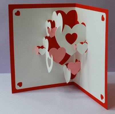 tarjetas popup para el 14 de febrero