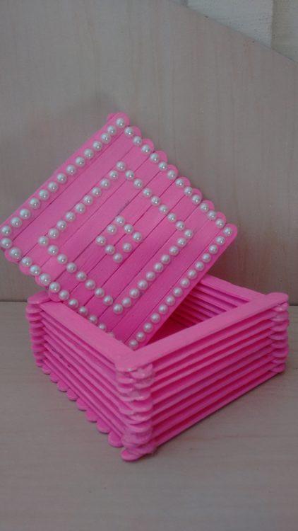 caja de palitos de helado DIY