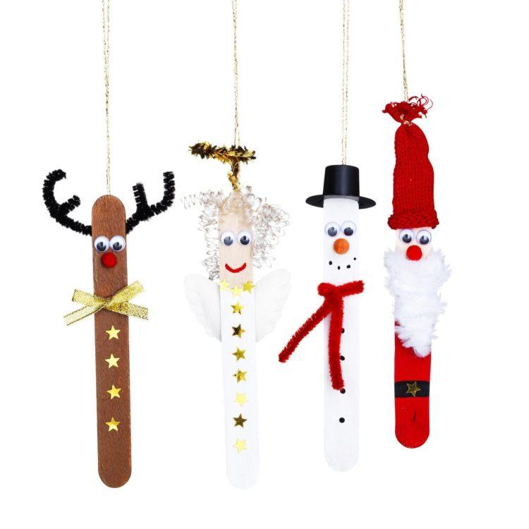 decoracion de navidad con palitos de polo