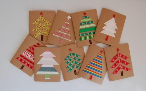Divertidas y sencillas tarjetas Navideñas.