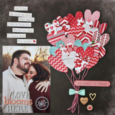 Idea de tarjeta para San Valentin de Hollyhumbert.