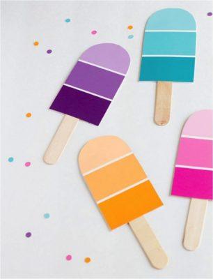 manualidades para fiestas de cumpleaños con palitos de helado