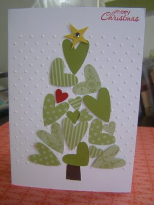 Postal de Scrapbook para Navidad.
